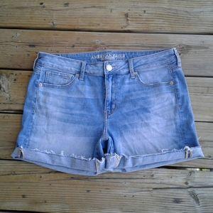 American Eagle midi super stretch Blue shorts